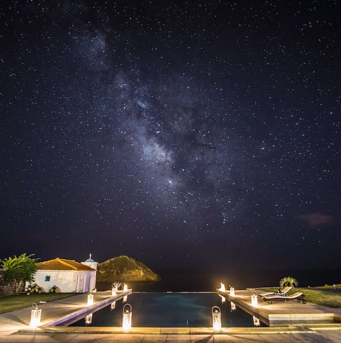 View of Milky way from the CK seaside  guest house.