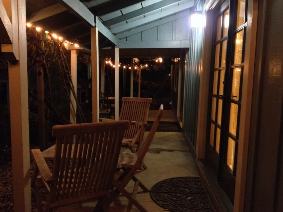 Covered Porch at night