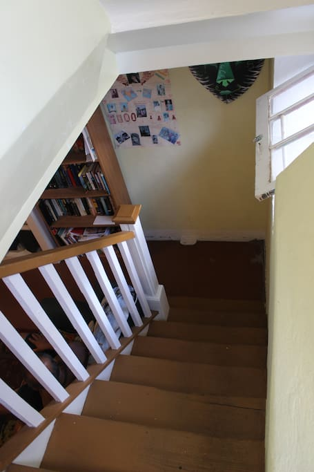 Staircase to the apartment from outside