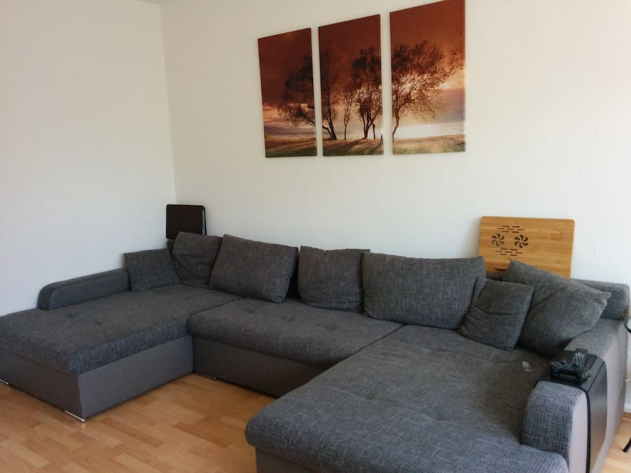 pull/out sofa bed to comfortably accommodate 2 people