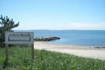 DuBois Beach three blocks away at the Point