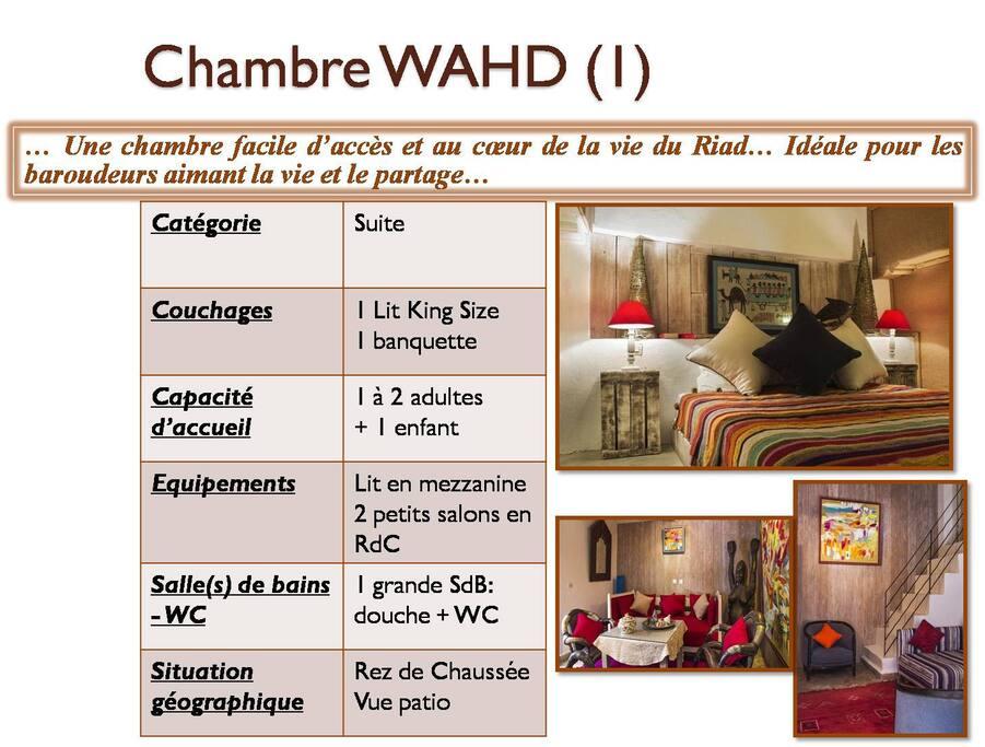 Chambre Wahd (1) au rez de chaussée