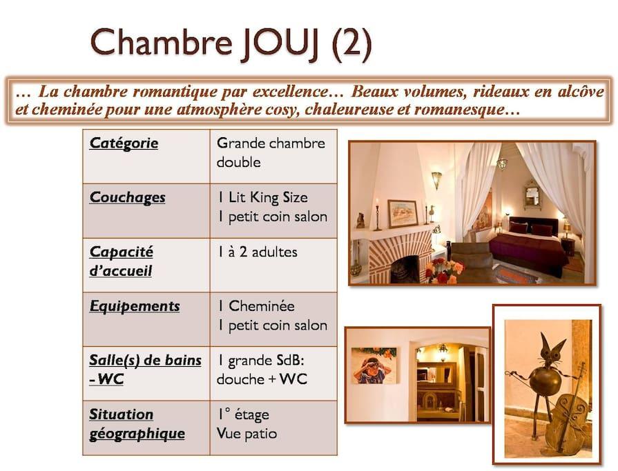 Chambre Jouj (2) au 1° étage