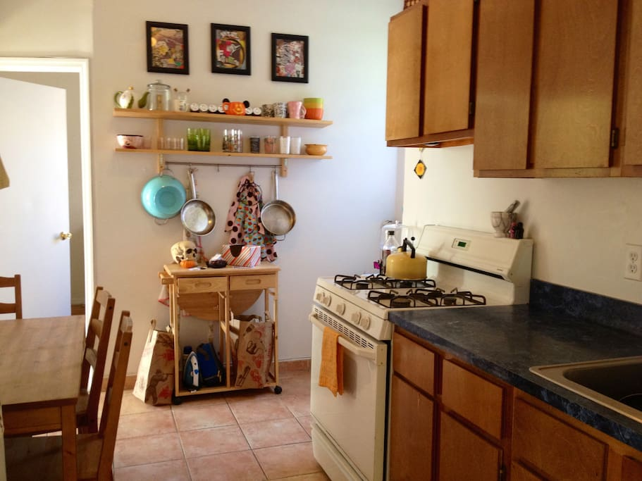 Cute kitchen with everything you need to feel at home