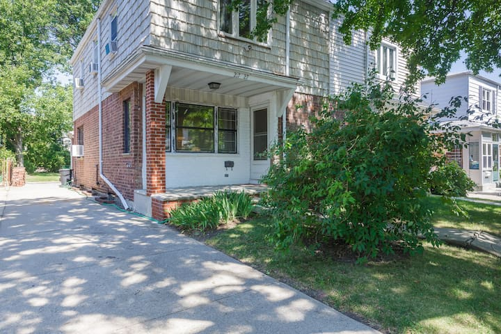 Home Sweet Home with a 3-Car Driveway, Unrestricted Street Parking, Backyard, Deck & Grill