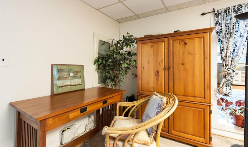 Desk in Garden Room.
