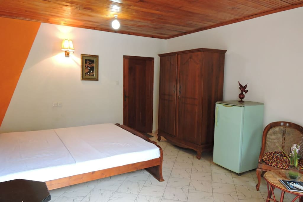 Double bed with Air conditioned rooms.