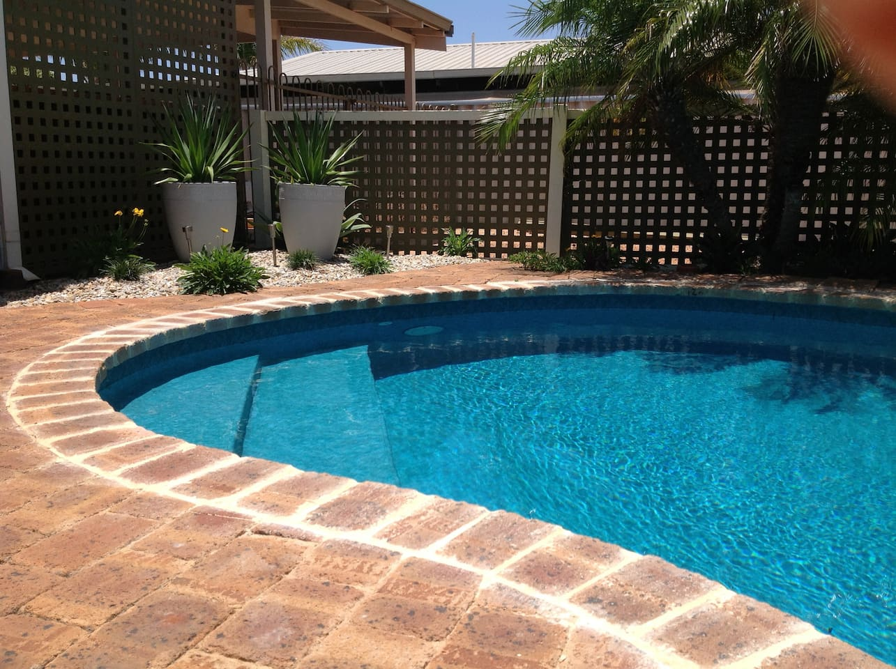 pool set in tranquil surrounds