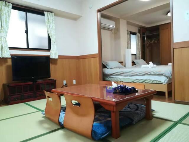 ueno 8 min by train ,free wifi,45㎡ wide room