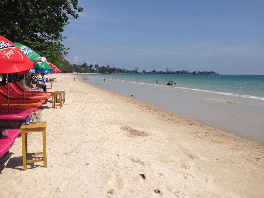 the beach is only 200 meters from property