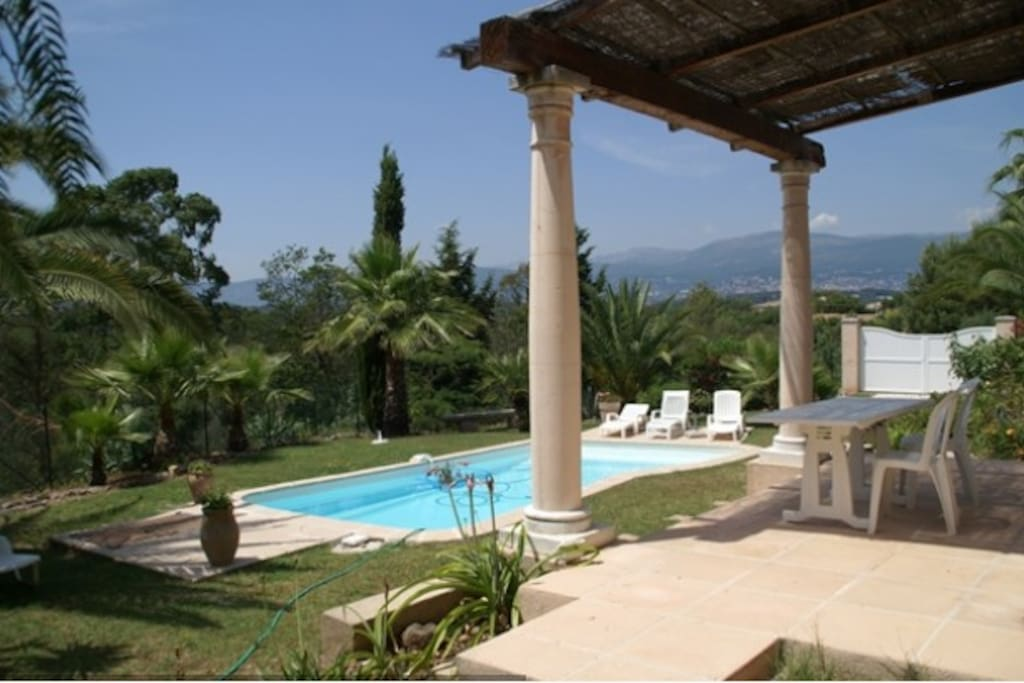 Studio rdc villa jardin piscine houses for rent in for Piscine mouans sartoux