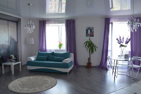 For daily rent a new studio apartment in Novosibirsk near underground of K.Marks. The offered apartment is in excellent condition, bright, warm, clean and comfortable for 3 person. Oll is near. Free transfer and rent bicycle. You,ll be satisfied.