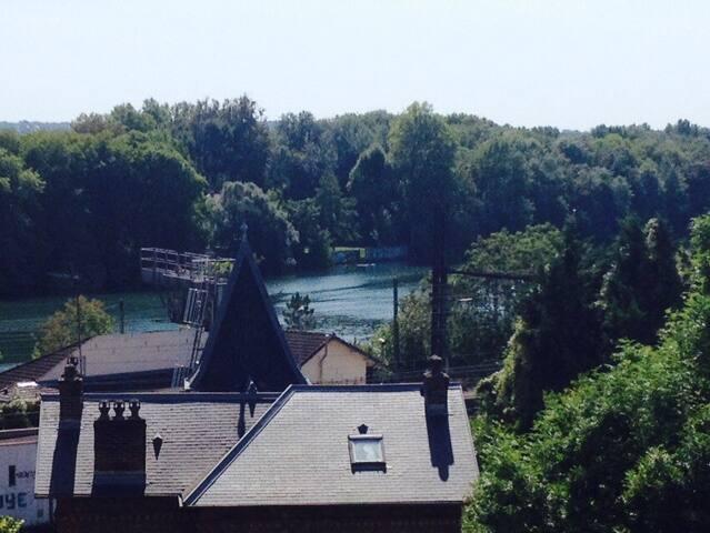 Vue sur la Seine depuis la chambre