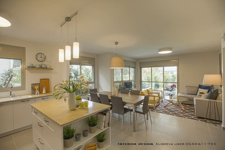 Kosher 3 Bedroom Garden Apartment - Ra'anana - Byt
