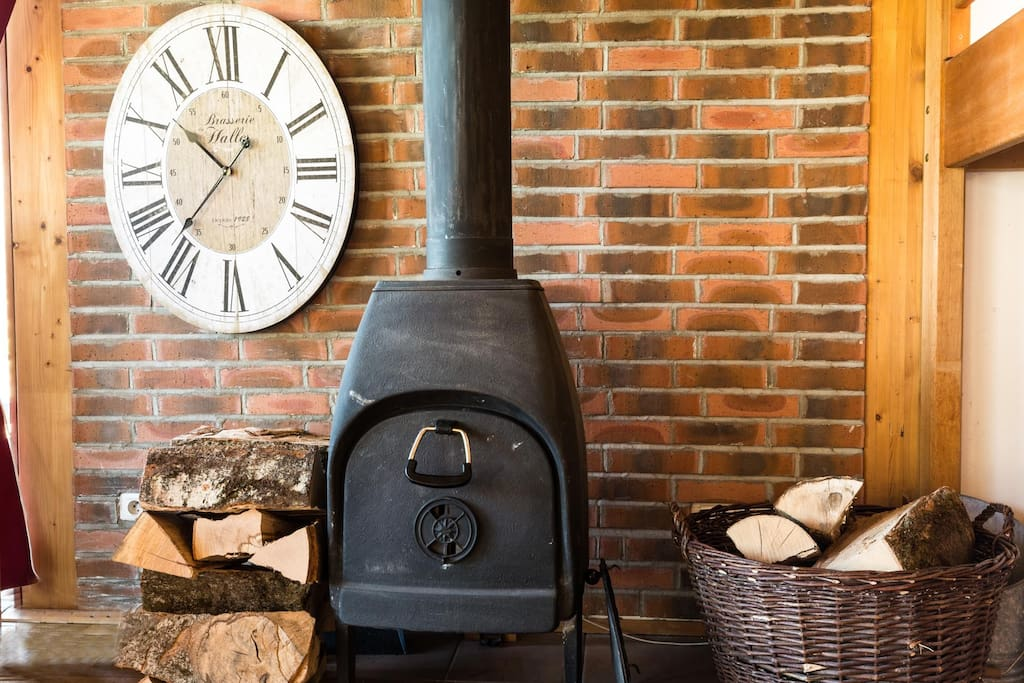 A cosy log burner for those cold wintery nights