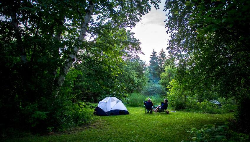 St. Croix Sweet Spot camping - Apple Blossom site