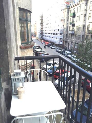 Table for two on the balcony