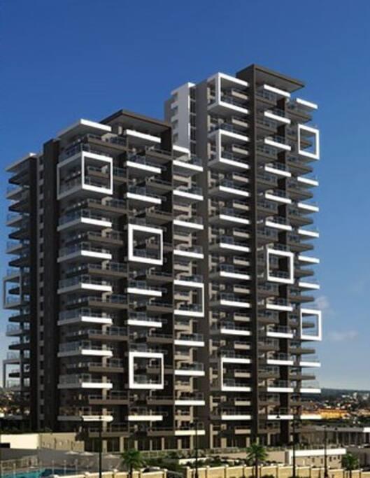Moderno diseño en la arquitectura.