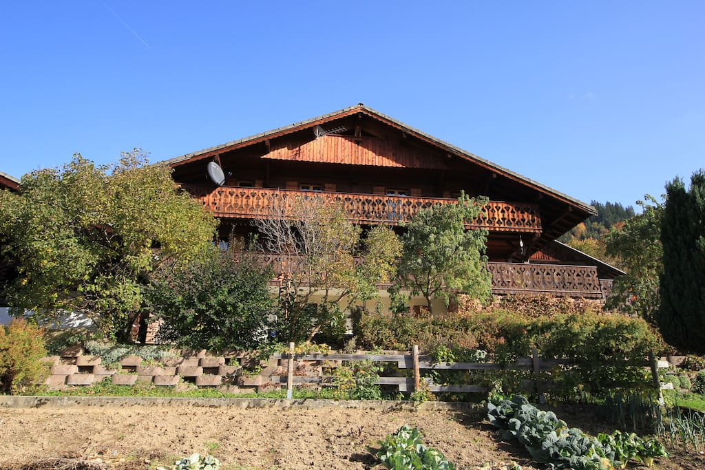 CHALET LE DRAGON IN SUMMER