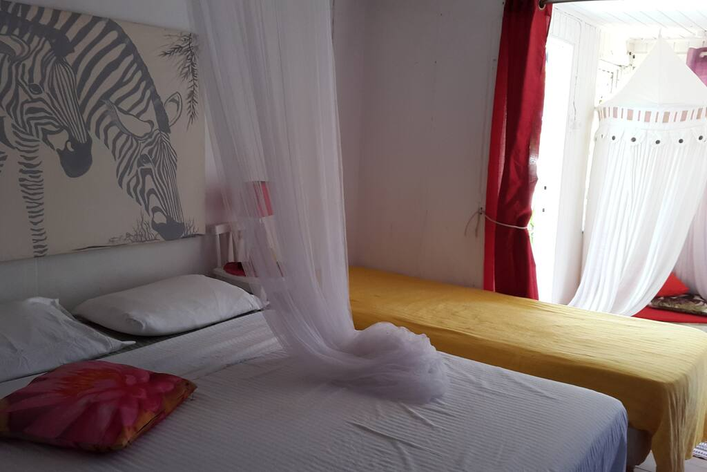 Room with Double bed + Single bed