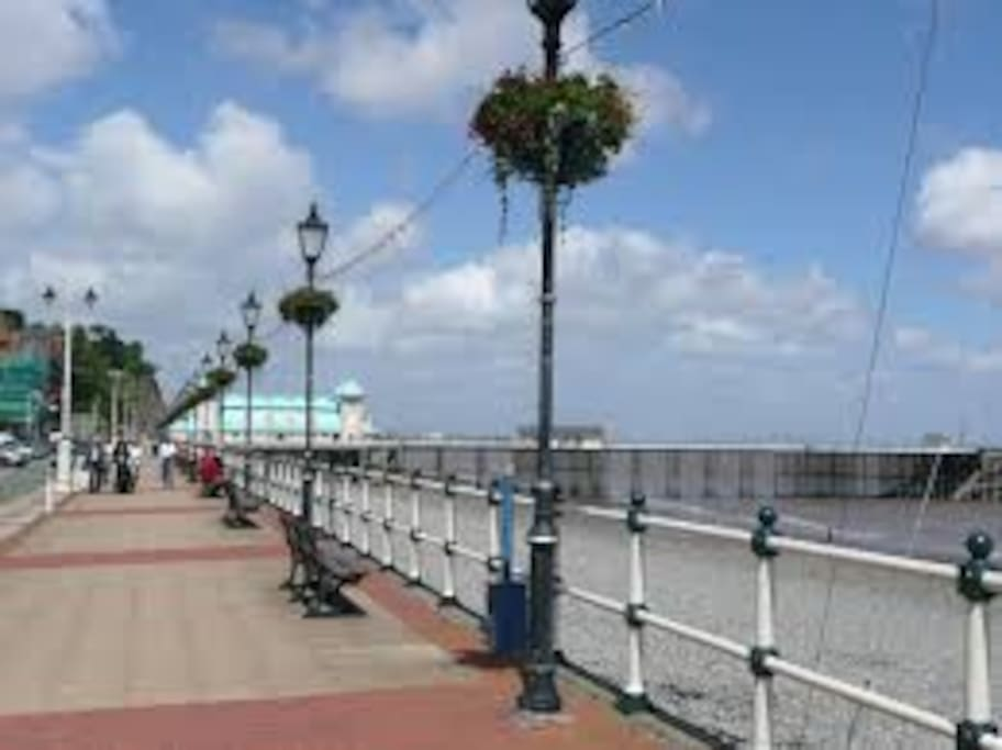 Penarth sea front is a 20 stroll from the house