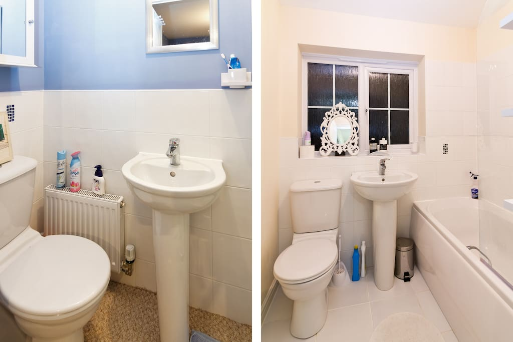 Ensuite Bath and Main Bathroom