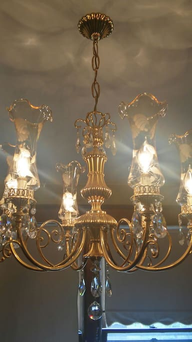 Beautiful chandeliers throughout
