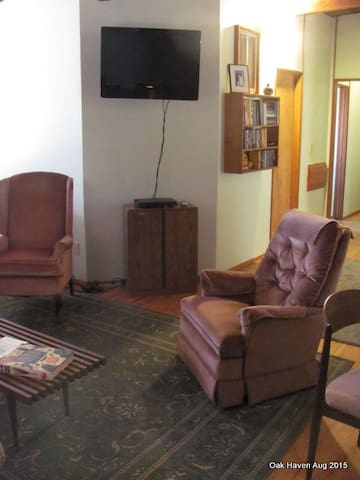 TV area from the fireplace
