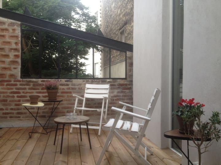 Appartement d'architecte avec terrasse