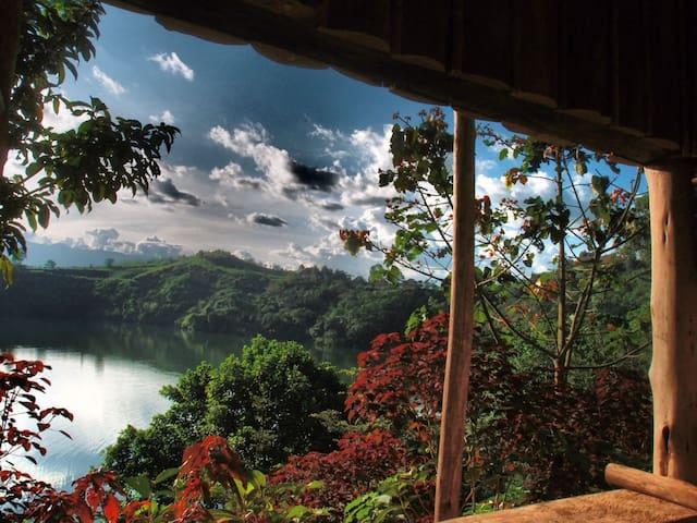 Ayapapa Home. Lyantonde crater lake.Araali's place