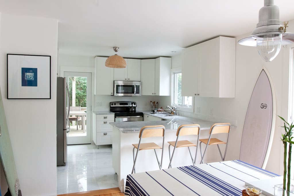 Kitchen + Dining Room | Stainless Steel appliances | Dishwasher + Oven + Microwave + All Utensils