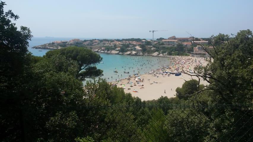 Vue mer et bord de mer, très grande terrasse - Martigues - Apartment