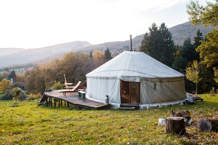 A quiet yurt  in Savoie - Bauges - Bellecombe-en-Bauges - Γιούρτα