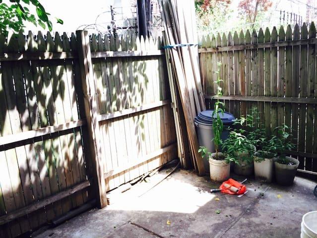 A cute little backyard