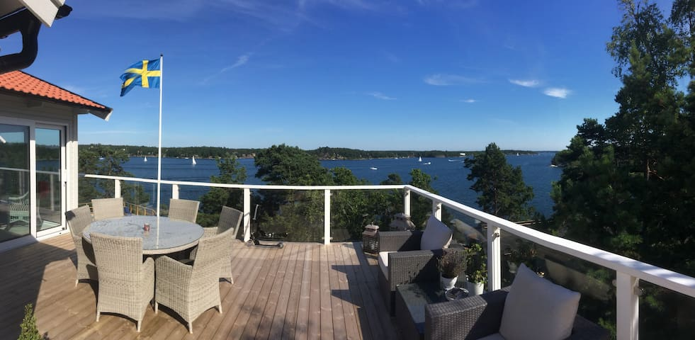 Beach House with a Great Sea View! - Värmdö NV - Huis