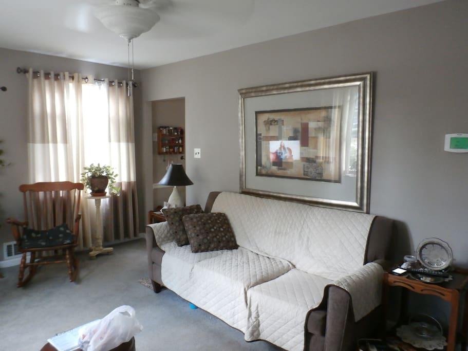 bright livingroom with ac