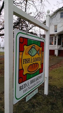 Fish & Loaves Bed and Breakfast Signage.