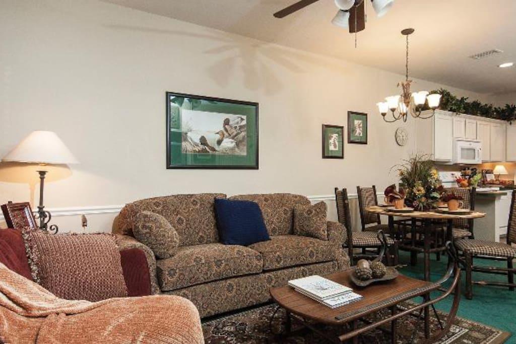 Completely furnished - 2 BR, 2 BA & sofa bed. Sleeps 6