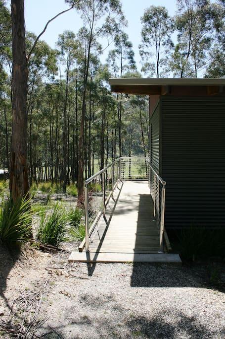 Access to Pademelon Cabin