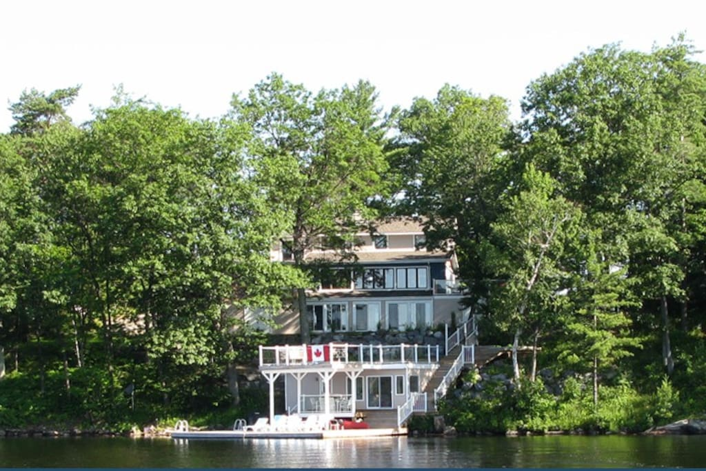 View of cottage from lake