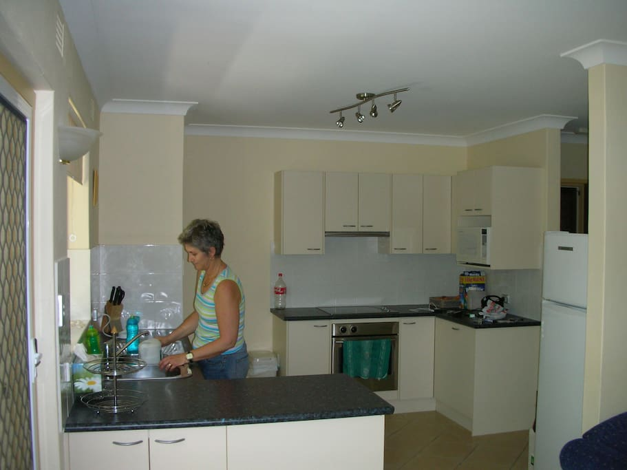 Generous, fully equipped kitchen