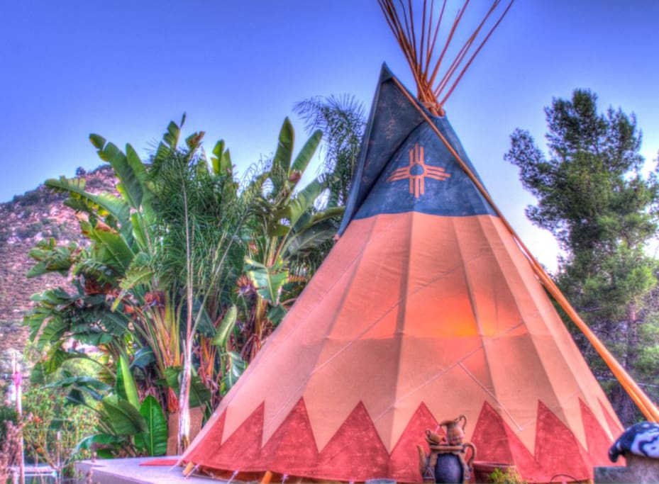 The original Mystic Canyon Tipi, in an embellished photograph taken by our friend.