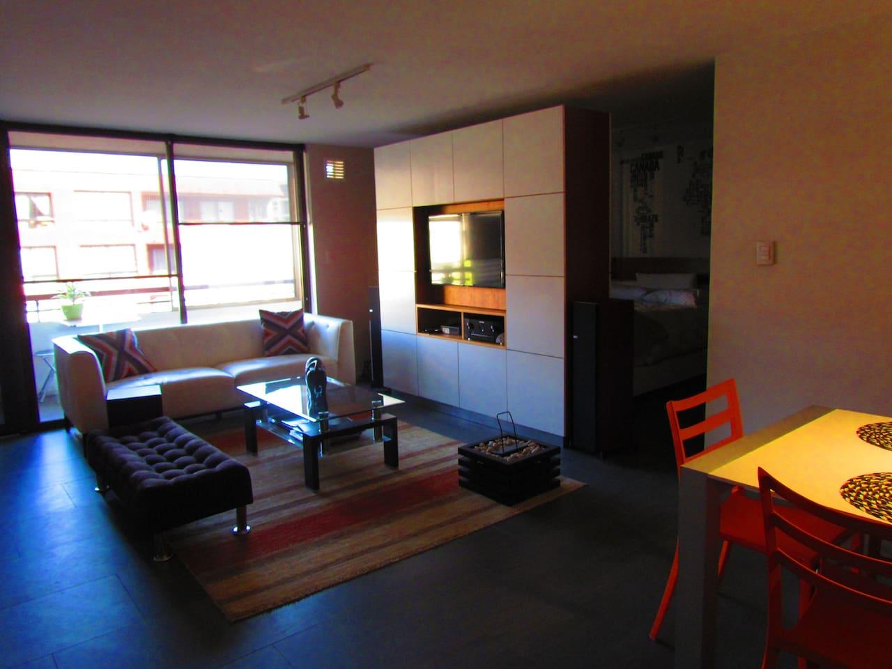 Living room, vista al entrar