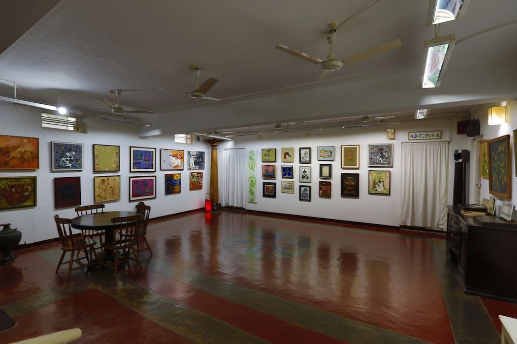 The art hall on the ground floor