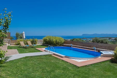 Vast Sea View, Garden, Private Pool - Galatas