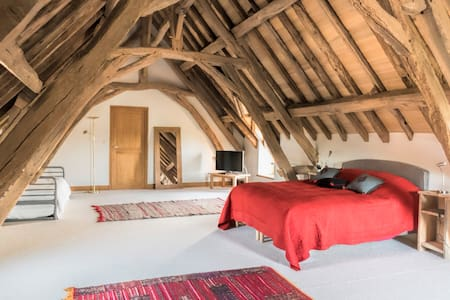 Belle chambre privée au calme - Preaux - Huis
