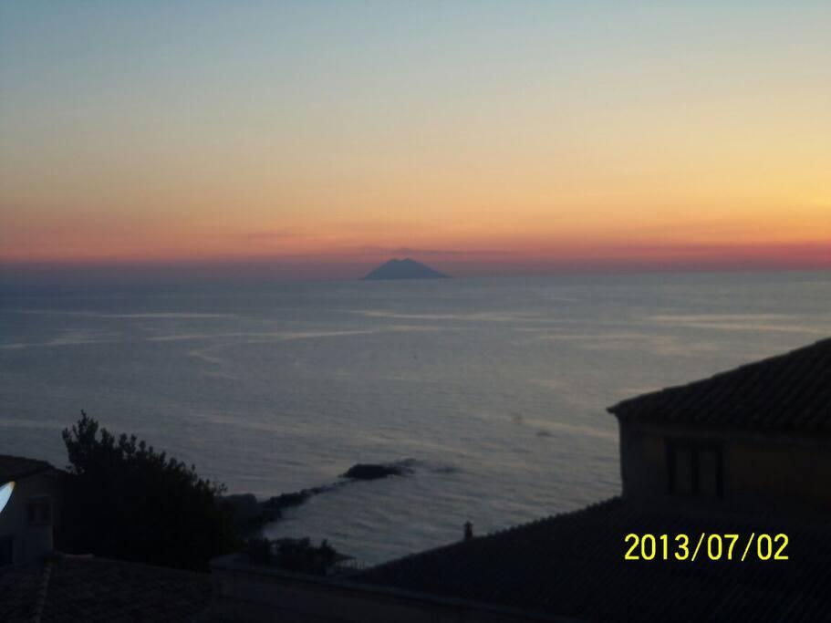Seaview on sunset