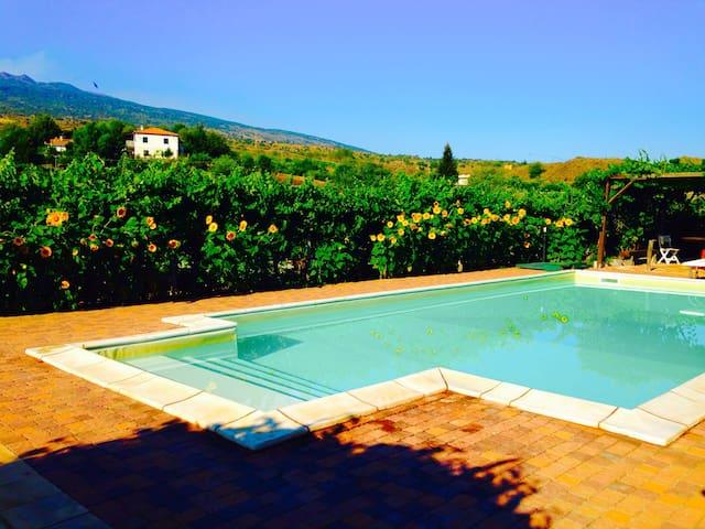 Etna-Villetta immersa tra i vigneti - Castiglione di sicilia - House