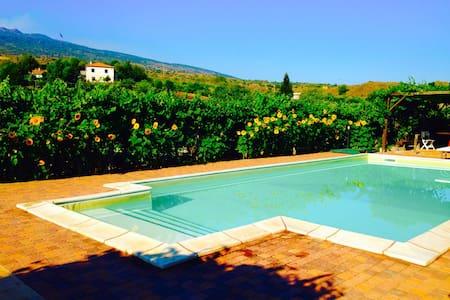 Etna-Villetta immersa tra i vigneti - Castiglione di sicilia - Rumah