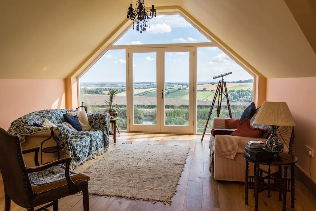 View of sitting room and view to the coast